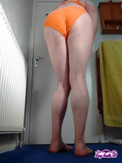 Sissy Lucy Smith TS Orange Bikini