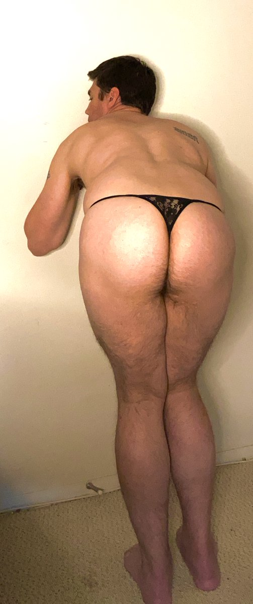Sissy Mark showing off his new thong