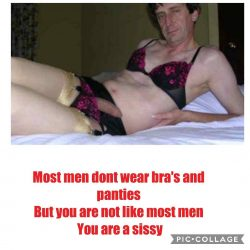 Yes I admit it, I am a sissy! Tom Chapman Nottingham UK