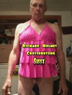 Richard Holmes tiny cock crossdresser.