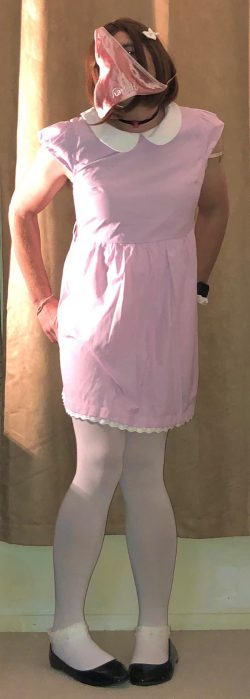 Feminine Sissy Marcie caught with panties over her head