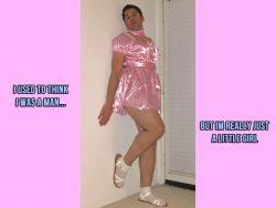 Naughty sissy bitch loves dressing girly