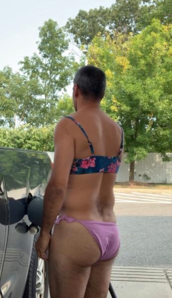 Sissy Fag Stephanie told to pump gas