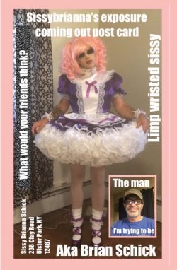 Sissybrianna coming out postcard