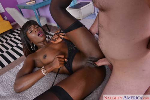 Hotwife cumming while he knocks her black pussy up