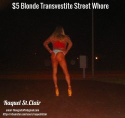 The $5 Blonde Transvestite Street Whore