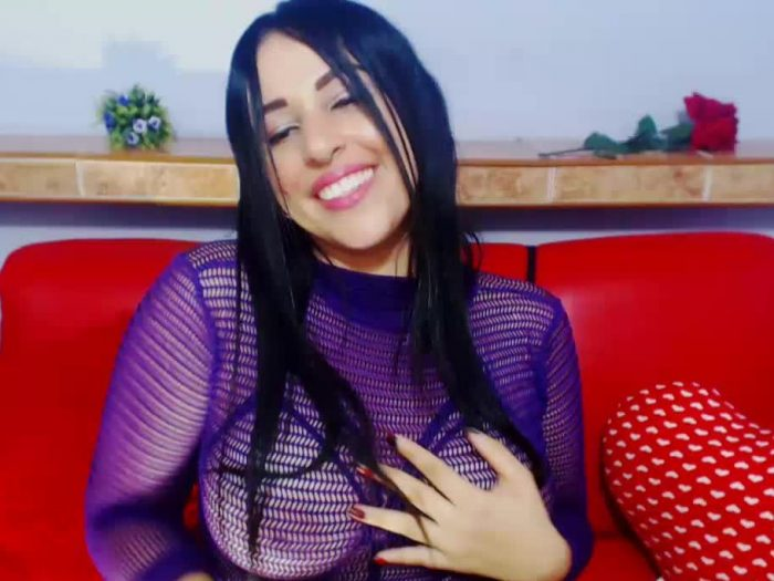 Busty Latina laughs at your tiny dicklette