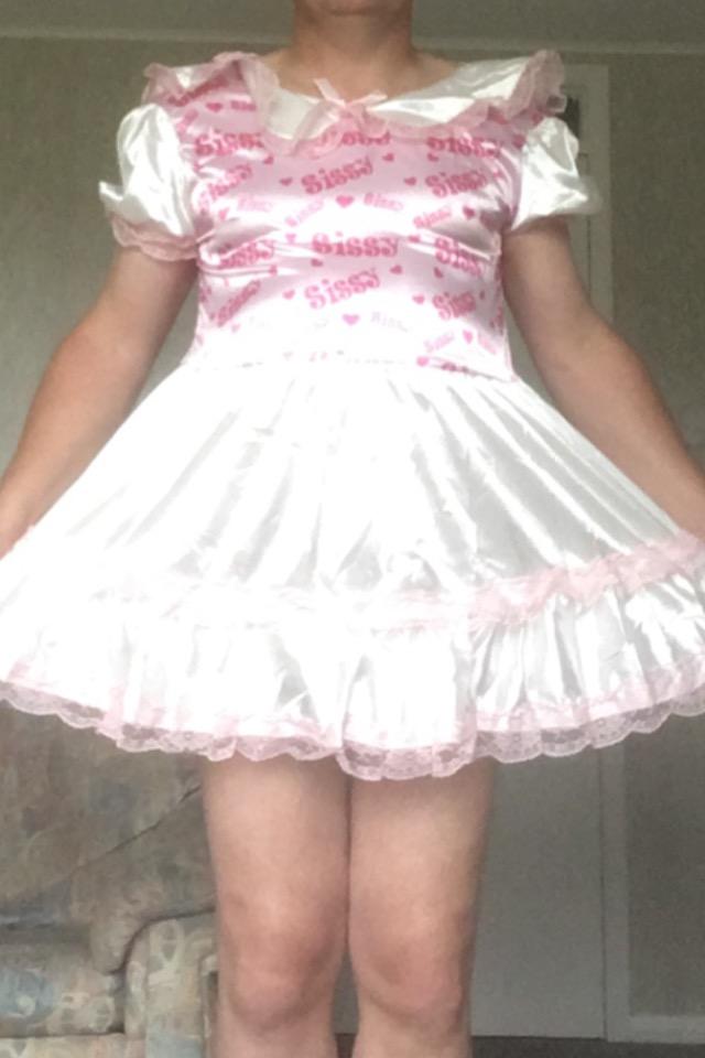 Emily's sexy new Sissy Dress