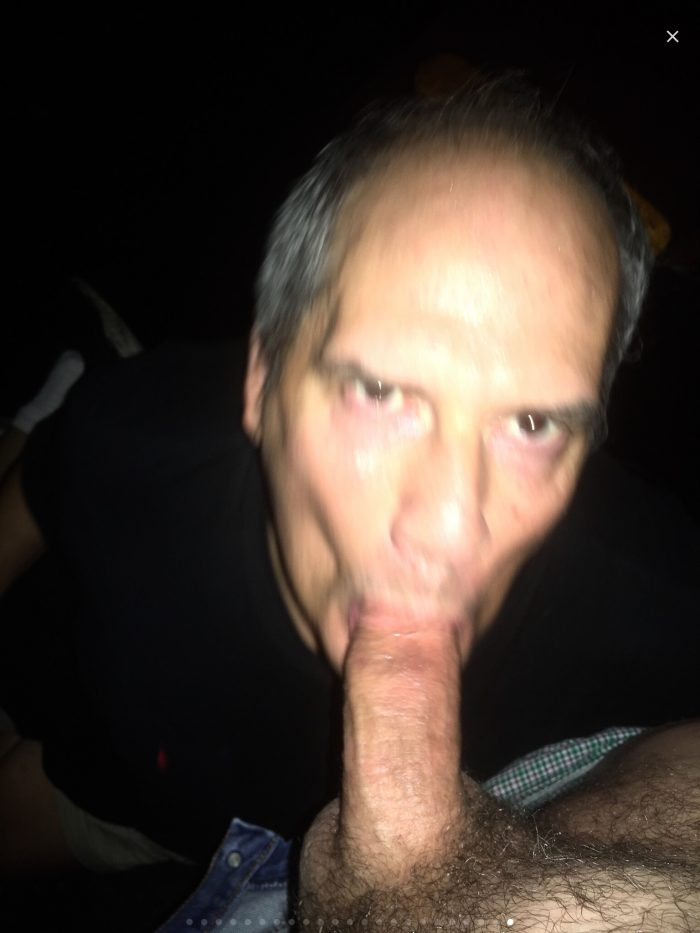 Sucking cock for my girlfriend who turned me into a sissy, cocksucker because of my useless clitty.