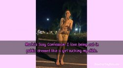 Sissy Confession: Mark Loves Crossdressing and Sucking Dildos