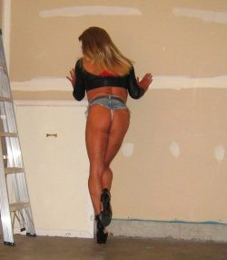 Blonde Slut in the Garage
