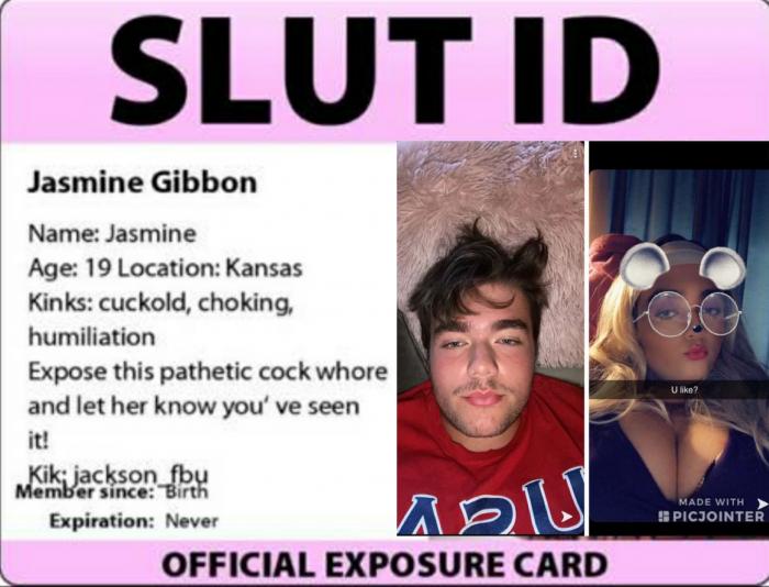 Exposed sissy Jasmine