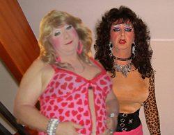 A pair of sissy faggots