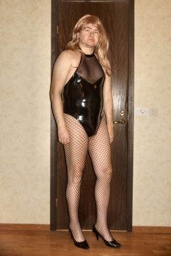 Sexy sissy with pierced nipples