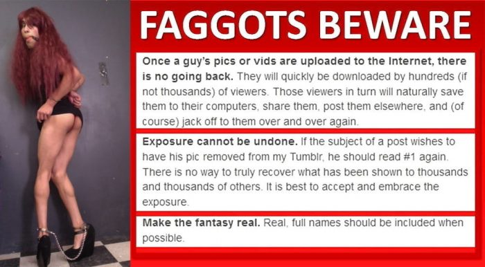 Exposed Faggots Beware!