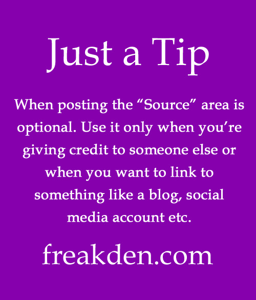 Just a tip: The source area is optional