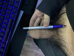 Cock comparison to a pen