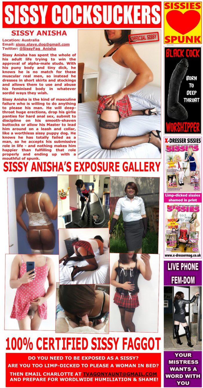 Sissy for Exposure – 100% certified sissy faggot!