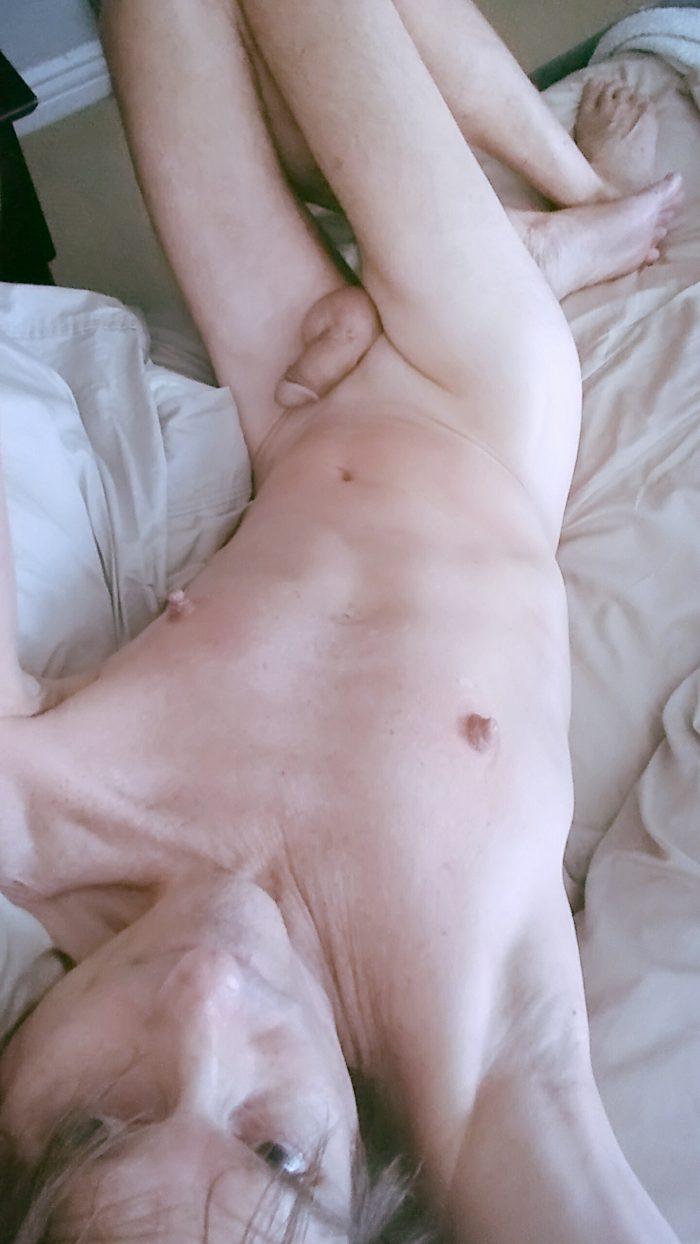 Sissy Faggot shaves allover