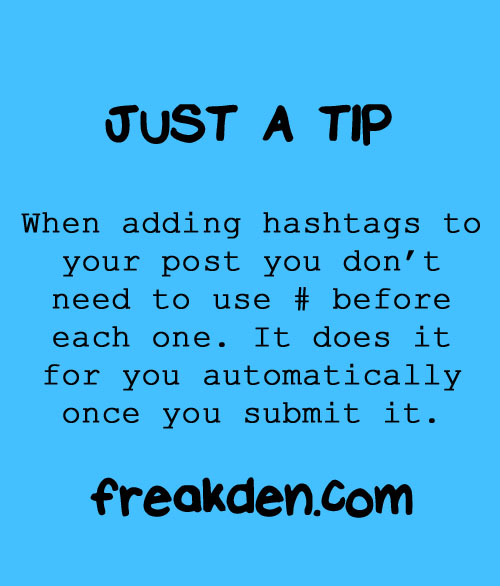 Hashtag Tip from Freakden