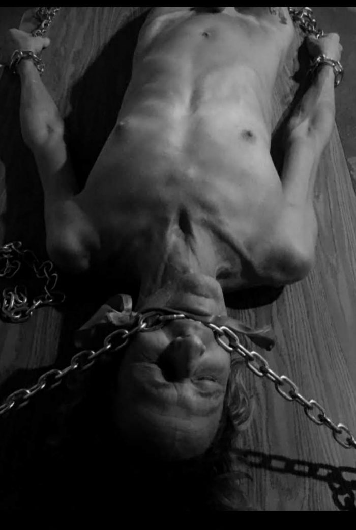 Chained and bouned.. compliments of Mistress