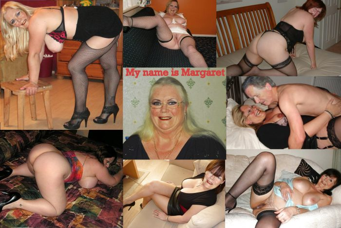 Many poses of Slutwife Margaret