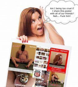 exposed sissy faggot loser poster