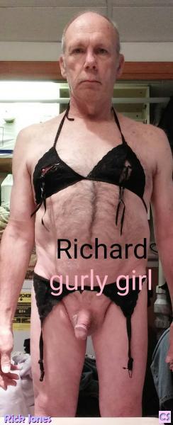 Sexy Richard Holmes crossdressing sissy faggot.