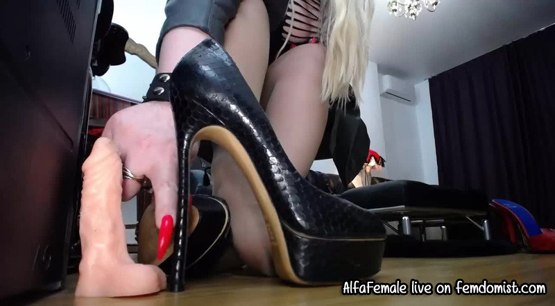 Do the high heel challenge live with a hot milf