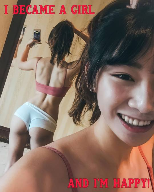 He became an Asian sissy girl and loves it