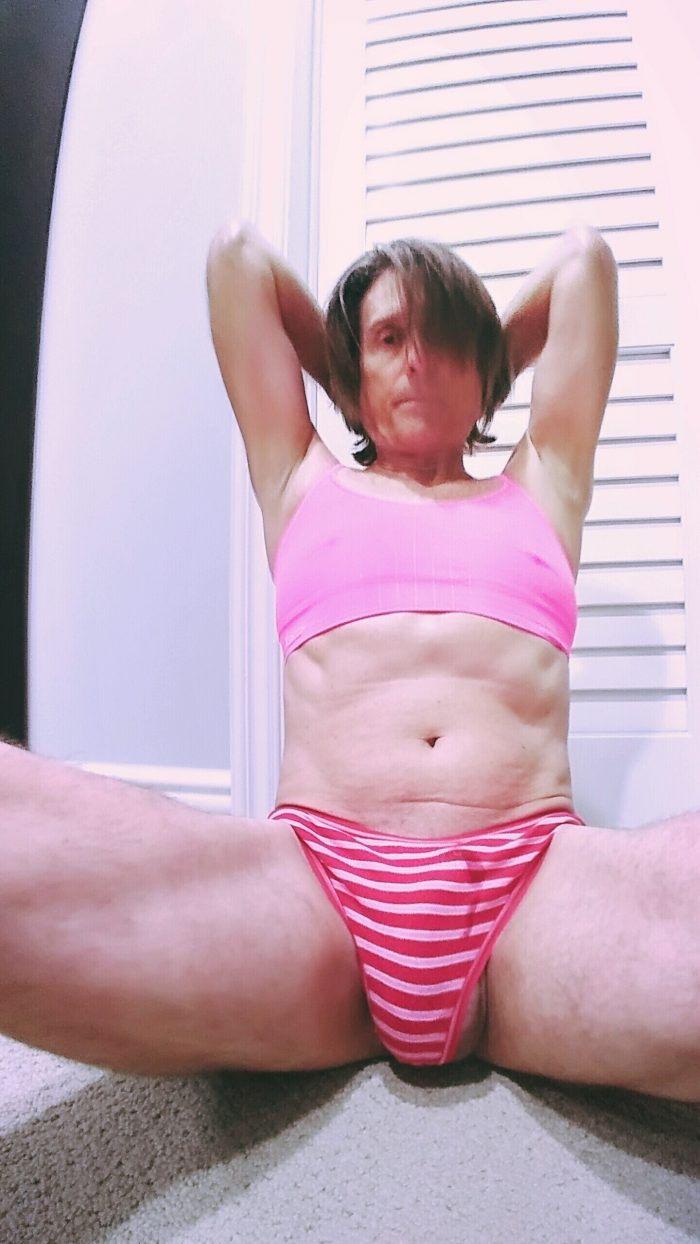 Sissy Shaves All his body