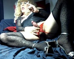 Sissy slut Samy smoking naughty