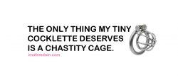 Chastity is all tiny cocklettes deserve