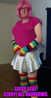 after the cum rain there is always the rainbow for Sissy Slut Cindy