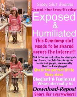 Sissy Slut Joanna Exposed And Humiliated
