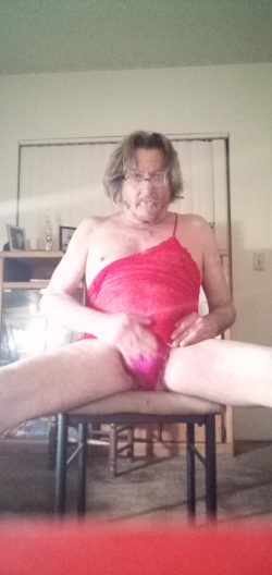 Touch my cock through panties