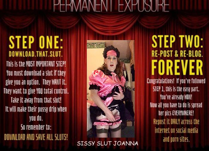 Sissy Slut Joanna Caught And Exposed