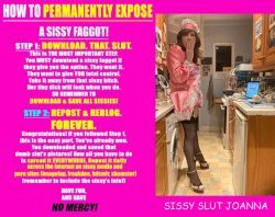 sissy slut Joanna for kinky fun, please expose and repost!
