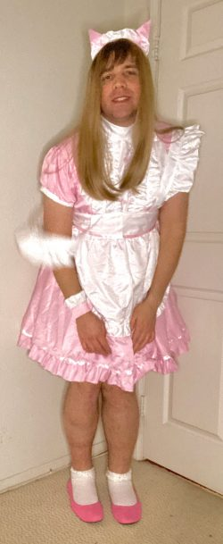 Sissy Mark poses in her new super cutie outfit