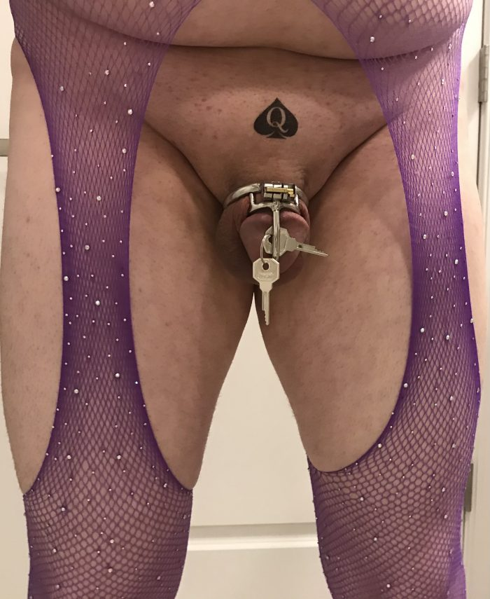 Plugged and caged for as long as you wish