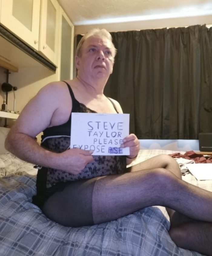 Recognise sissy Steve in his wife's clothing? 😂🤣