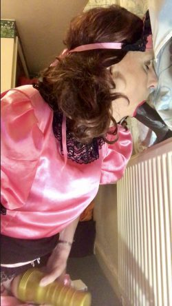 sissy slut joanna, his wife made him a cuck, she practices in between fluffing for her wifes bbc ...