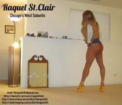 Tanned Blondie Raquel St.Clair in Daisy Dukes