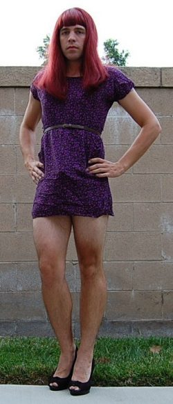 Get outside and pose like a sissy