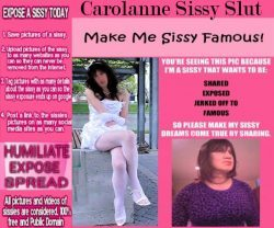 sissy slut so deserving of exposure, repost this cock whore