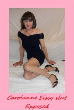 perfect sissy slut gets her look on
