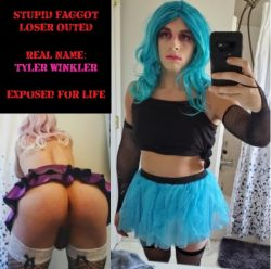 this sissy slut has soooo many outfits for her men, choose what you want her to be