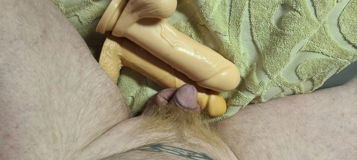 """my uncaged limp tiny dicklet, as compared to my """"riding partners"""" bredbottom in person"""