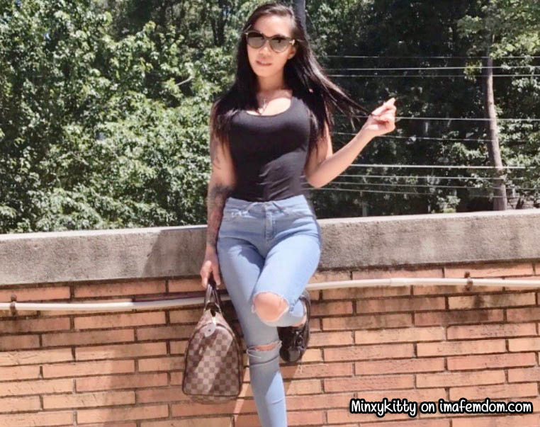 Filipina princess makes horny losers worship her body online