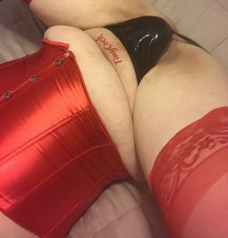 Tiny cock in tiny leather panties
